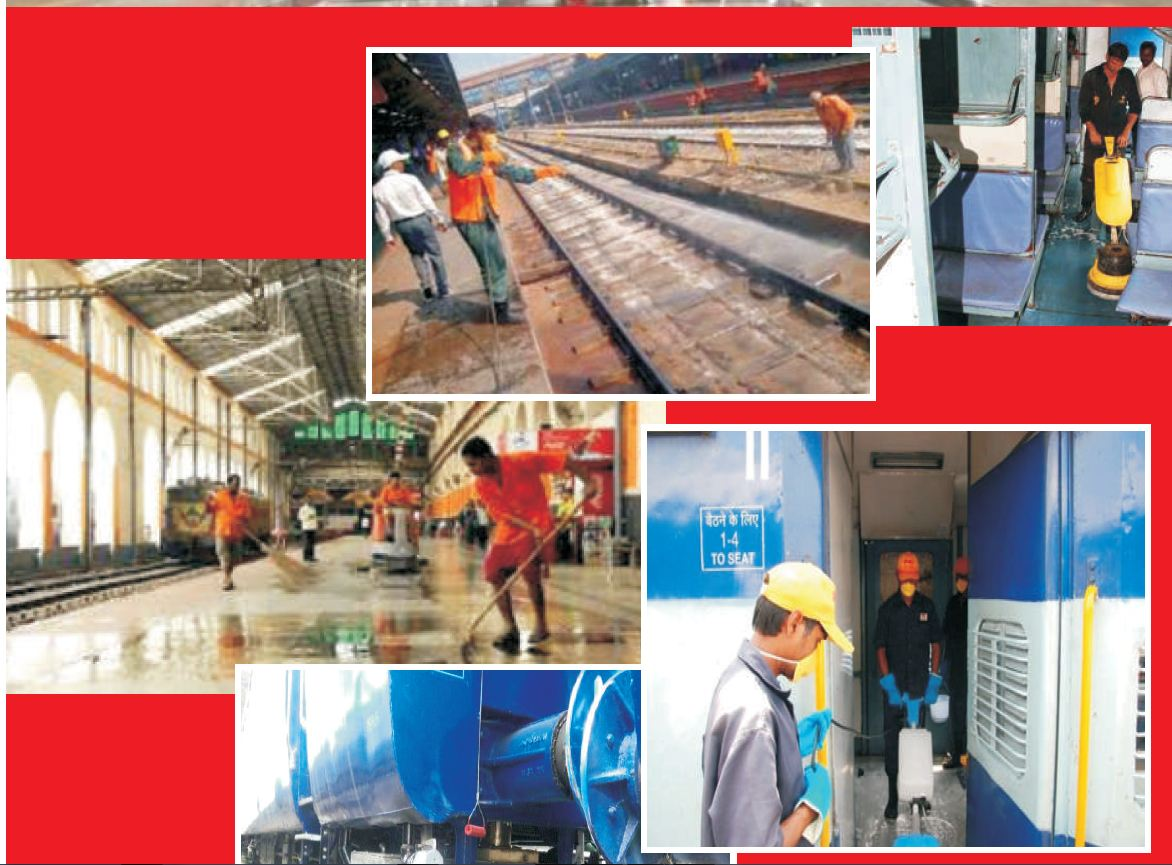 cleaning railway station mission india by IRCTC